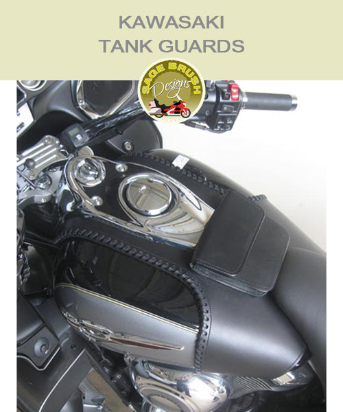 Kawasaki Tank Guards with side lacing and console pocket