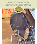 Softail Cross Bones black vinyl engine guard chap