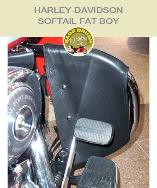 Softail Fat Boy OEM black engine guard chap