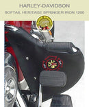 Softail Heritage Springer Iron 1200 black engine guard chap with firefighter logo