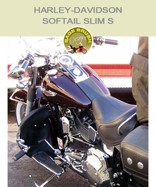 Softail Slim S OEM Nostalgia with black engine guard chaps