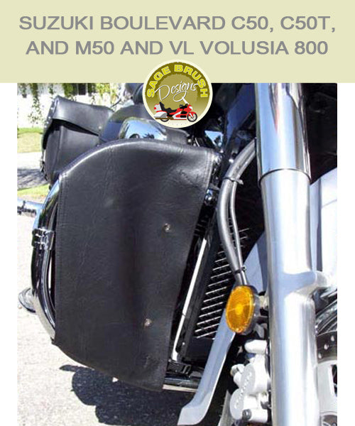 Suzuki Boulevard C50, C50T, and M50 and VL Volusia 800 engine guard chaps