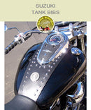 Suzuki Tank Bibs with studs and custom order medallion