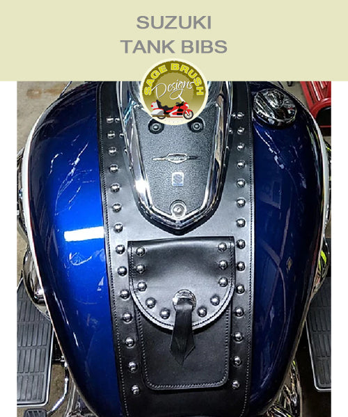 Suzuki Tank Bibs with studs, pocket, and concho