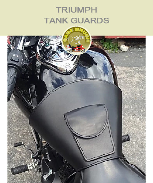 Triumph Rocket III black tank guard