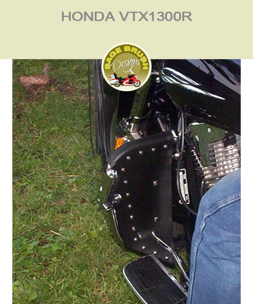 Honda VTX1300R Paladin National Cycle bar with black studded engine guard chaps