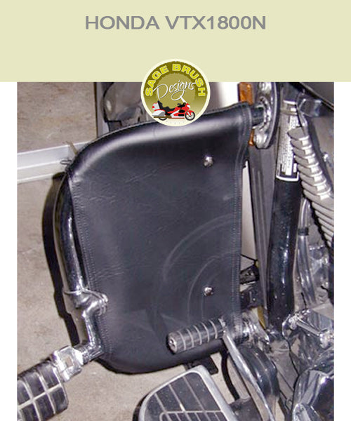 Honda VTX1800N  Paladin National Cycle bar with black engine guard chaps