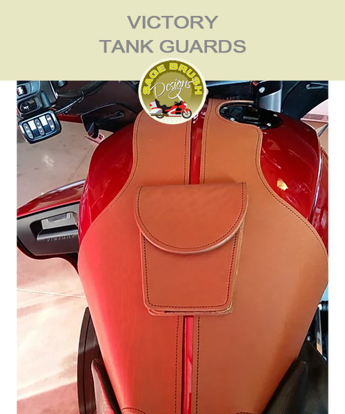 Cross Country or Cross Roads Large Tan Whaletail Tank Guard with standard hem and pocket