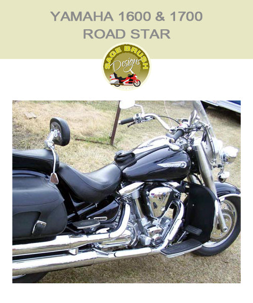 Yamaha 1600 & 1700 Road Star Cobra Fatty with black engine guard chaps