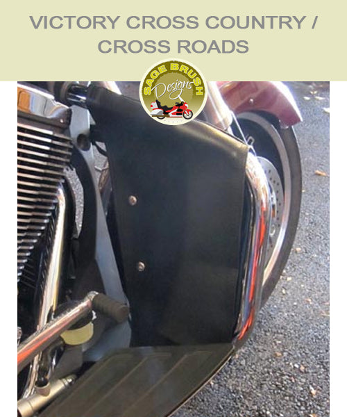 Victory Cross Roads and Cross Country black engine guard chaps