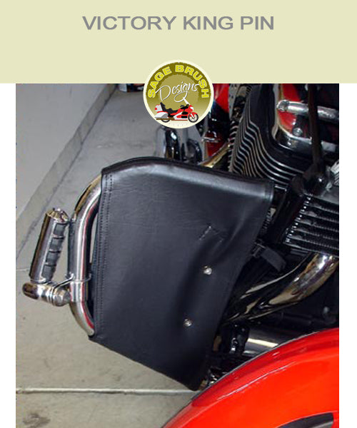 Victory King Pin OEM with black engine guard chaps
