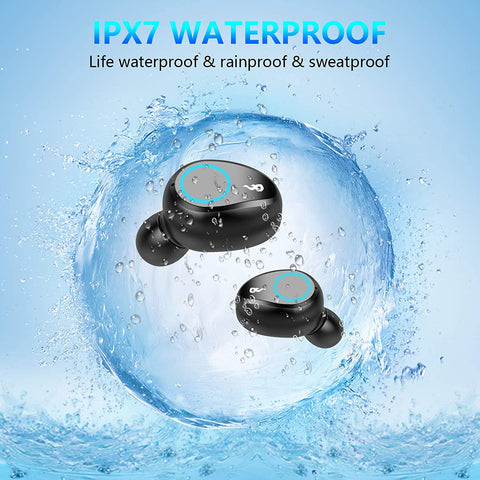 Waterproof earbuds TWS 5.0  earphones Bluetooth headset wireless for iPhone & Android noise canceling sport 2020