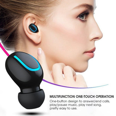 Tws Bluetooth headset earbuds wireless for iPhone & Android noise canceling sport 5.0 earphone waterproof 2020 headphone
