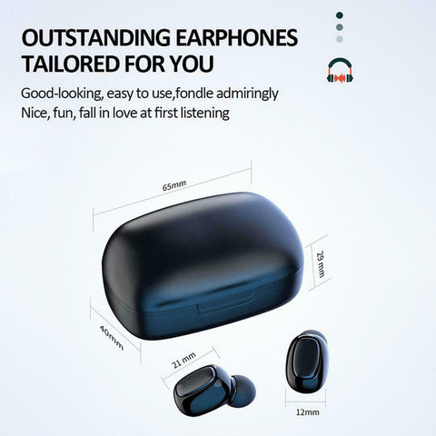 Wireless earbuds for iPhone & Android Bluetooth headset noise canceling sport Tws 5.0 earphone waterproof 2020 headphones