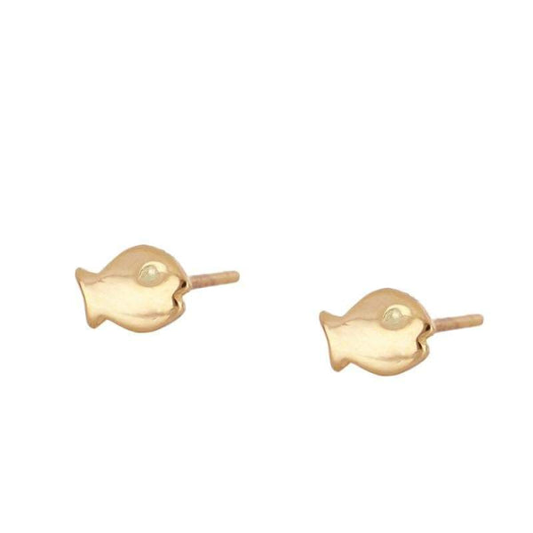 FISH Gold Pendientes - jewels by agathe