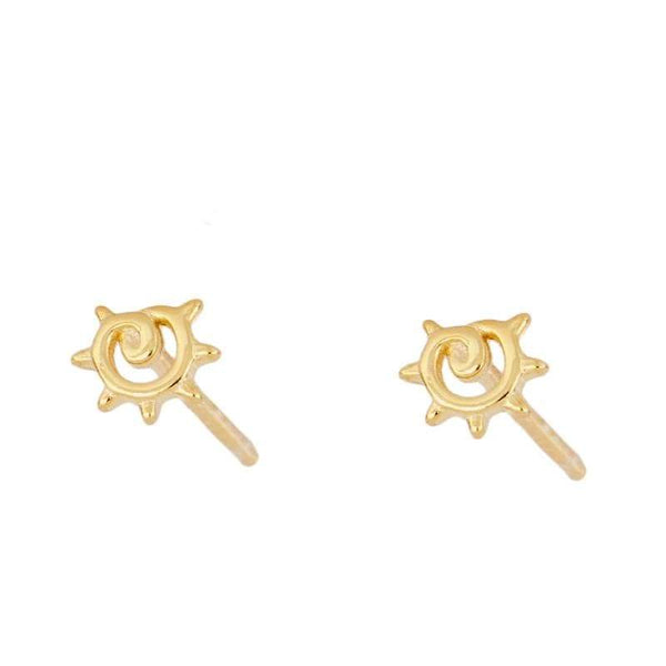 SOL Gold Pendientes - jewels by agathe