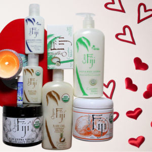 Organic Fiji's Valentine's Day Whole Body Set – Infused with organic coconut oil