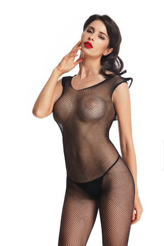 Women's Sexy Mesh Open Crotch Bodystocking