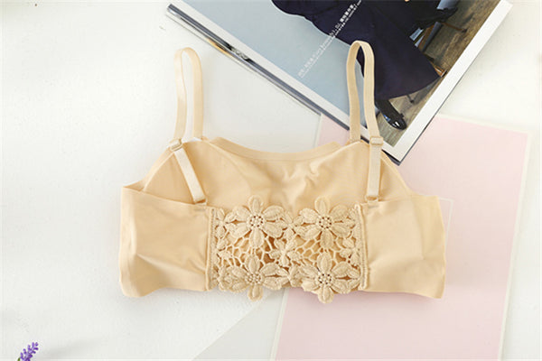 Women's Imported Ice Silk Back Design Bralette (Size : Free 28-34)