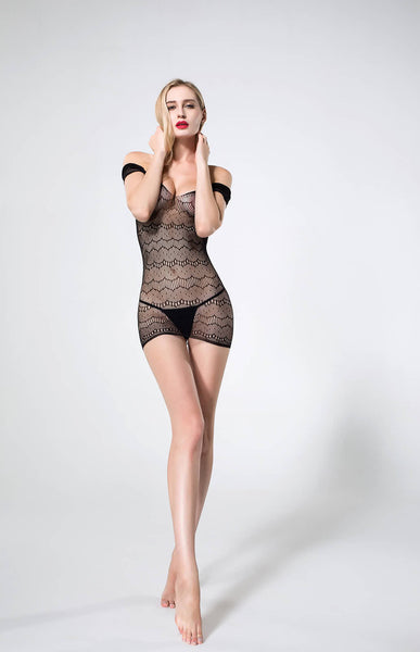 Hot & Sexy Black Chemise Exotic  Honeymoon Body Stocking Babydoll intimate Wear
