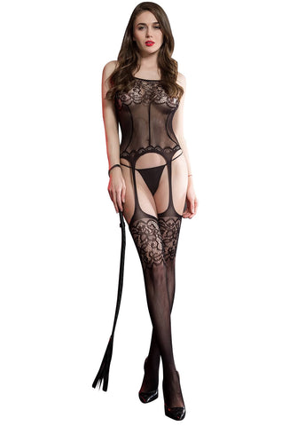 Sexy Black Full Body Exotic Desire Honeymoon Body Stocking Babydoll intimate Wear