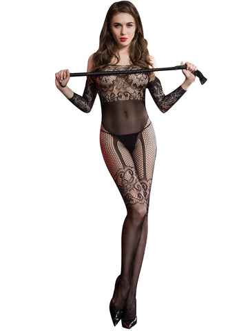 Black Sex Women's Naughty Body Stocking Babydoll Exotic Lingerie