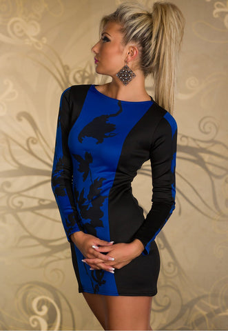 products/Blue-Fashionable-Long-sleeved-Mini-Dress-with-Leaves-Pattern-LC21000-2-4.jpg