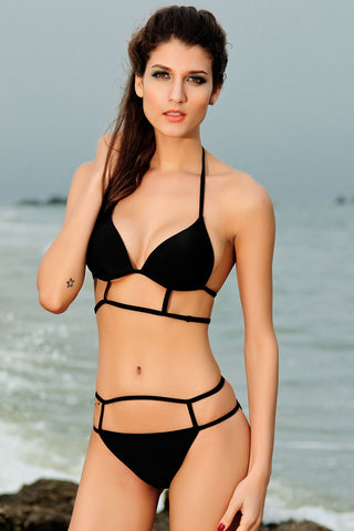 Hot Black Sexy Strappy Bikini