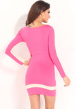 Pink Nude Sexy Flattering Bodycon Dress
