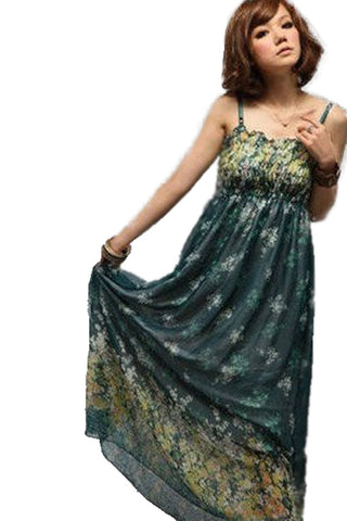 Deep Green Over Bust Girl Dress