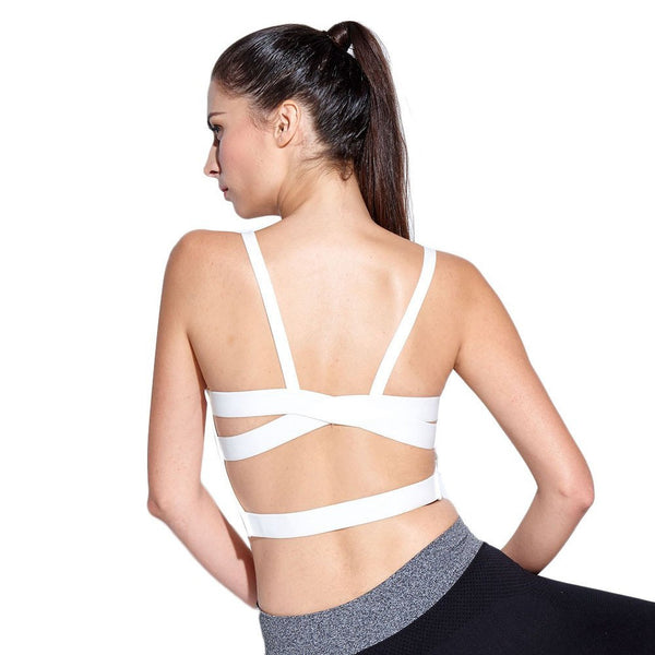 Women's Imported White Camisole Back Strapped Bralette (Size : Free 28-34)