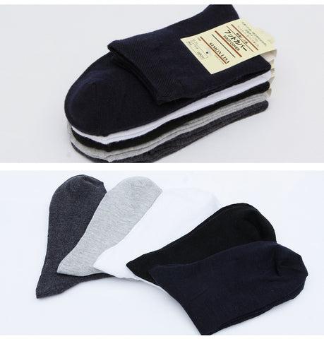 Unisex Imported Black Cotton Calf Length Sock (1 Pair)