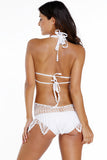 White Holiday Fashion Crochet Beachwear