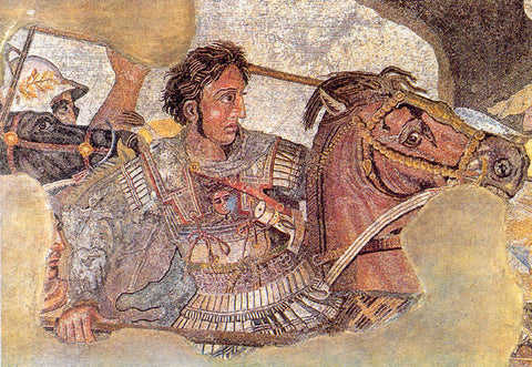 Alexandra The Great on horse who discovered Himalayan pink salt that we use for magnesium bath salts
