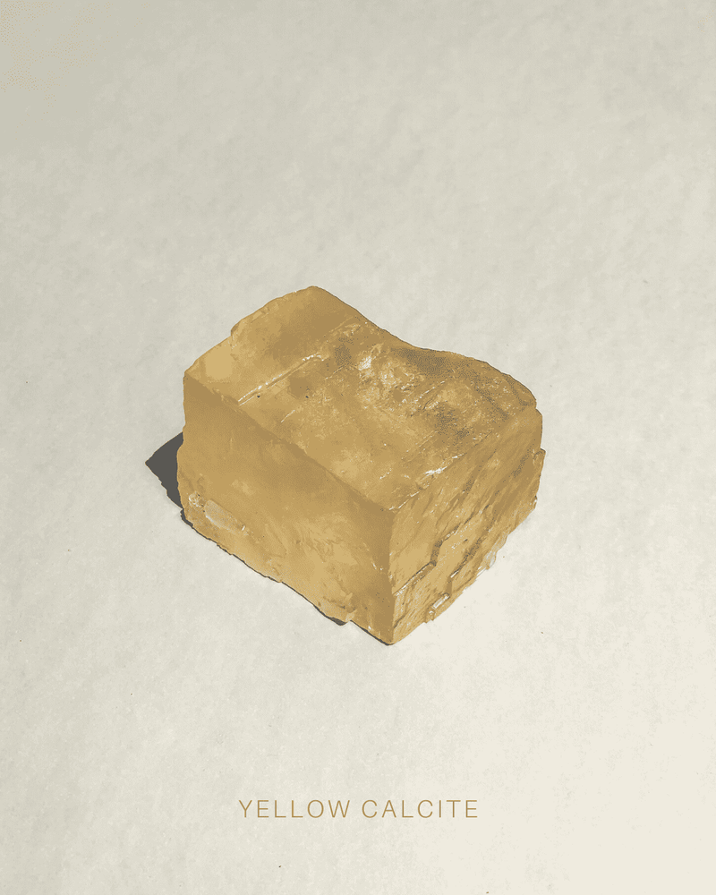Yellow Calcite 2, Geometric from the Volcanic beds of the Deccan Plateau.