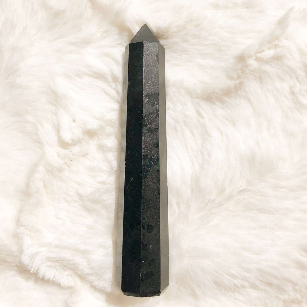 Black Tourmaline Crystal Obelisk