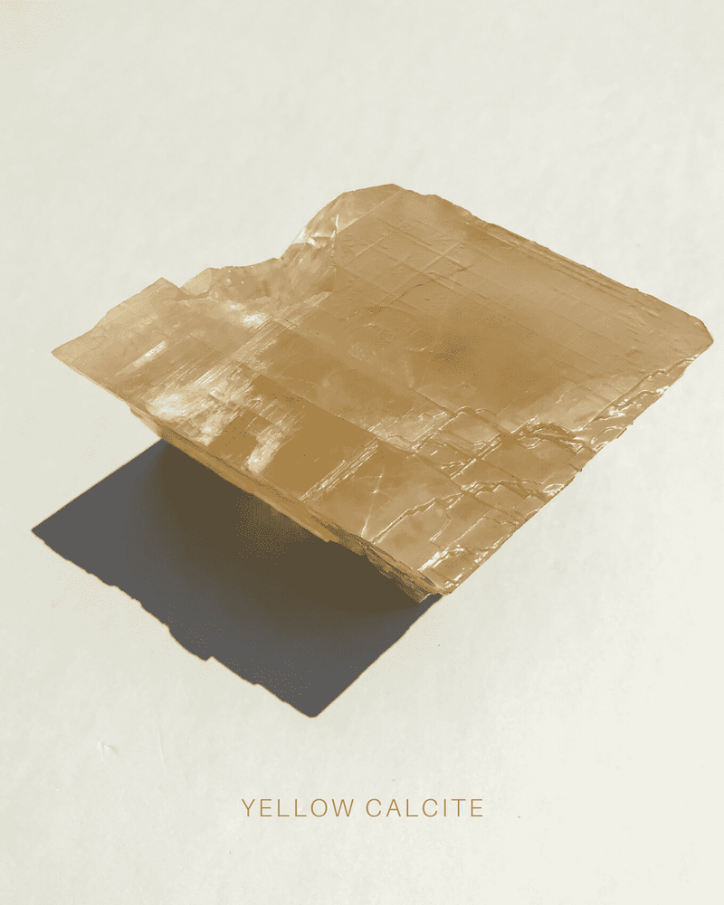 Yellow Calcite (Large), Geometric from the Volcanic beds of the Deccan Plateau.