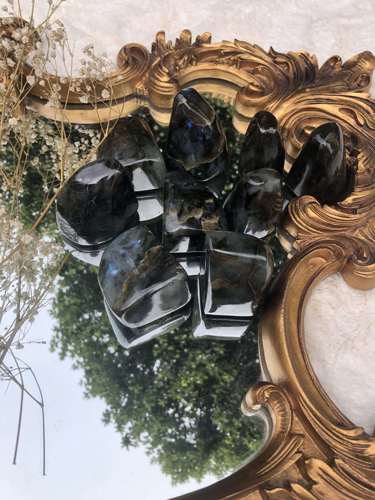 Labradorite Crystal Free Standing and Polished