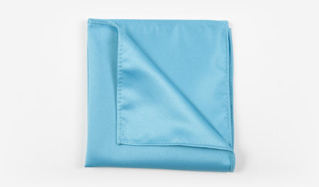 "12"" Turquoise Solid Satin Pocket Square"