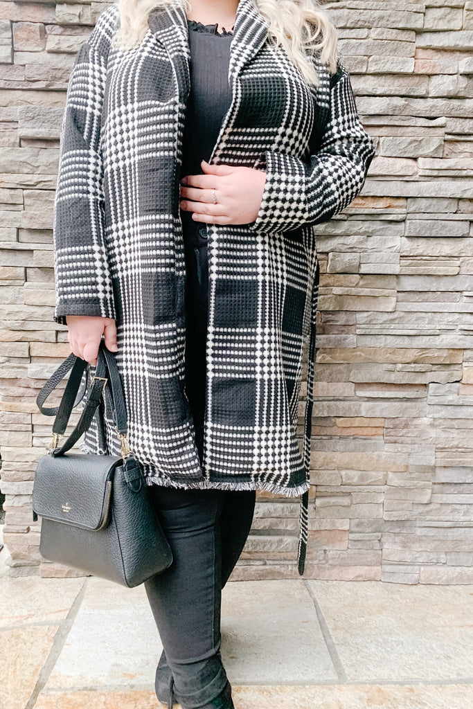 Beautifully You | Keep Your Secrets Plaid Coat