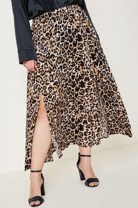 Beautifully You | Spotty By Nature Leopard Midi Skirt