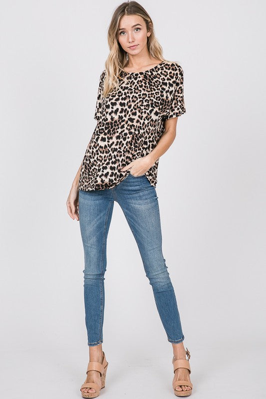 Beautifully You | That's The Spot Leopard Twist Top