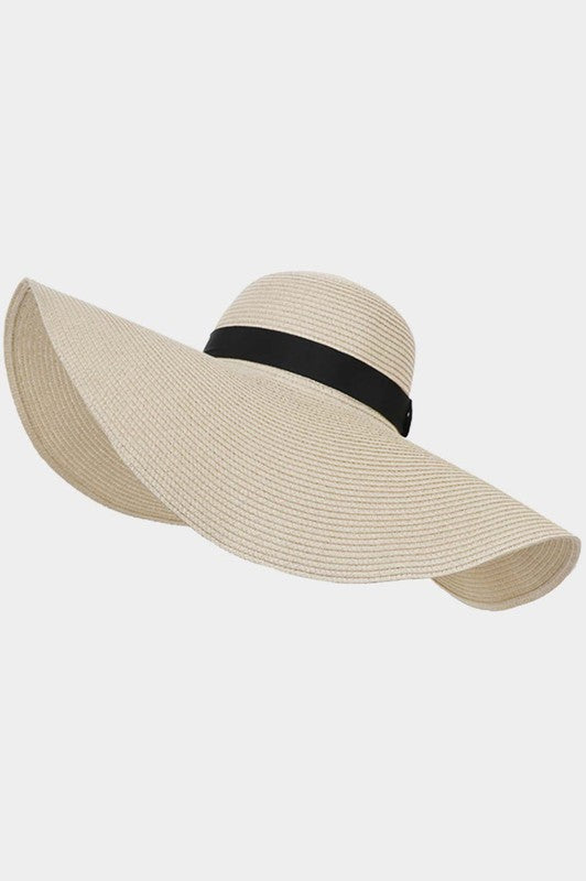Beautifully You | Straw Floppy Beach Sun Hat