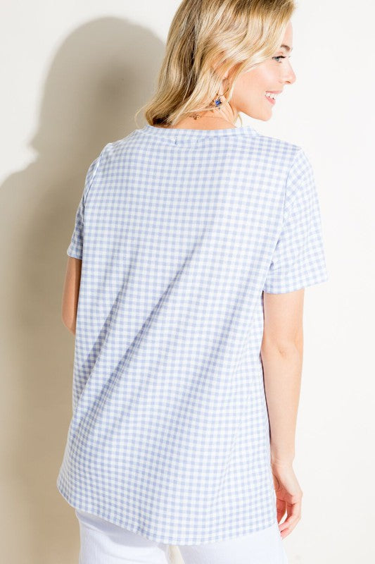 Beautifully You | French Terry Gingham Top