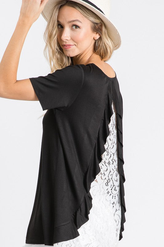 Beautifully You | That's Deep Lace Back Top