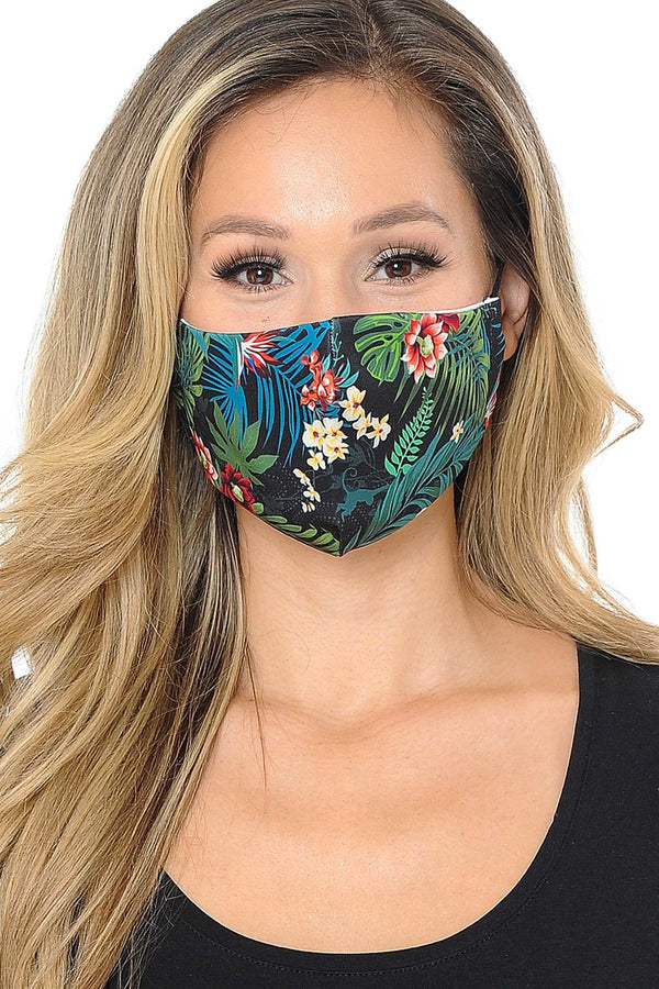 Beautifully You | Tropical Floral Print Face Mask