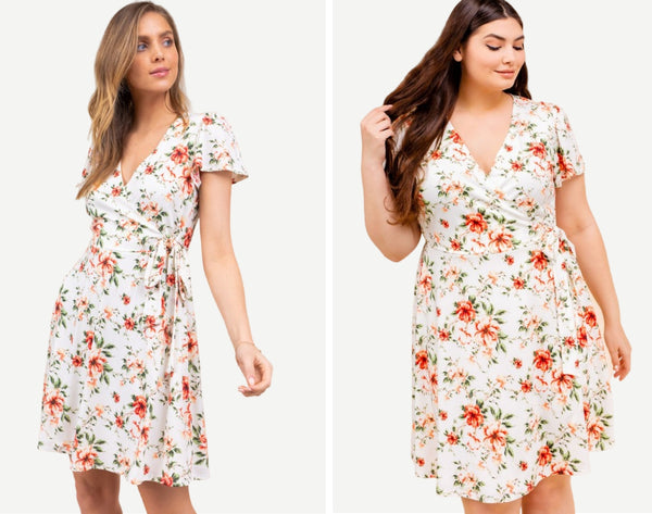Beautifully You | Endless Love Floral Wrap Dress