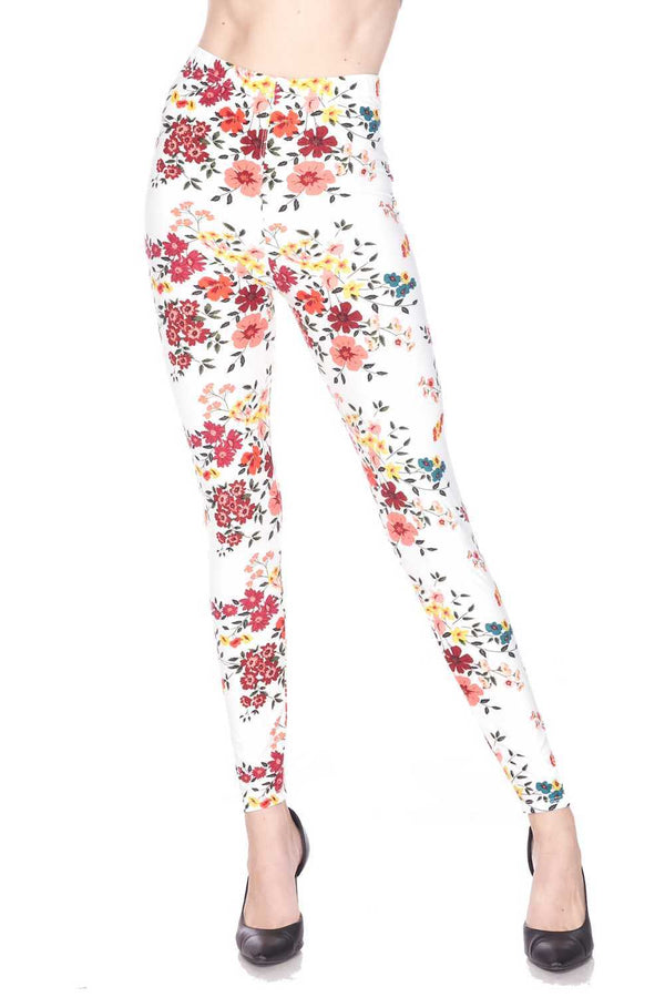 Fresh Spring Floral Leggings
