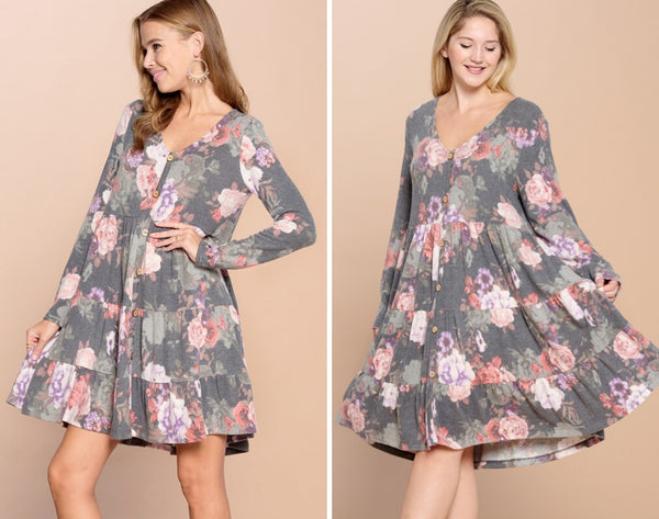 Beautifully You | Floral Fixation Tiered Dress
