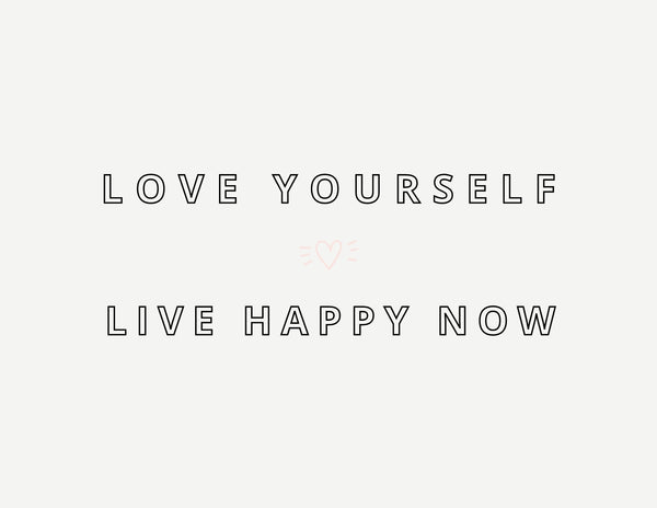 Live Happy Now Print